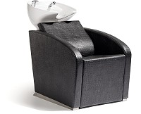 Sibel Elegantia- Backwash Unit Complete / Chair Croco Black