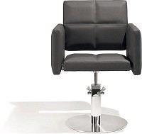 Sibel Styling Chair Fortunatus black with round basis
