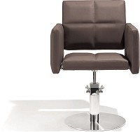 Sibel Styling Chair Fortunatus brown with round basis