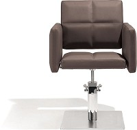 Sibel Styling Chair Fortunatus brown with square basis