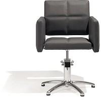 Sibel Styling Chair Fortunatus black with 5-star-basis