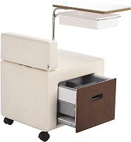 Sibel Mobile Manicure Table Seat with Tray