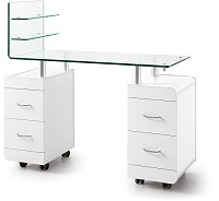 Sibel Louise Manicure Table with curved Table Top