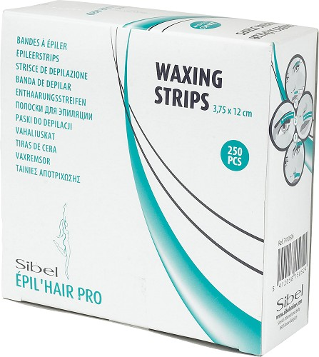 Sibel little depilatory strips in dispenser box
